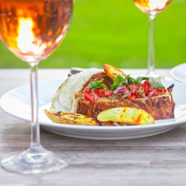 The first of the cabbage is here and this BBQ dish of Grilled Cabbage Steak with Balsamic is the perfect way to use a much underused vegetable.
