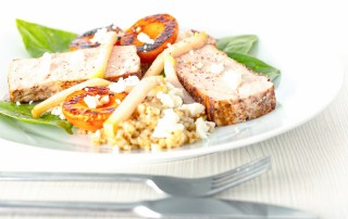 Good food is all about combinations and this Apricot Pork Loin with Feta & Pickled Kohlrabi rocks the whole sweet sour salty vibe with perfectly cooked pork.