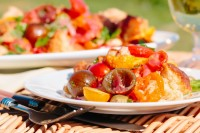 Panzanella really is a wonderful frugal route to Picnic Perfection, stale bread and beautiful ripe tomatoes make this Italian classic salad a must make!