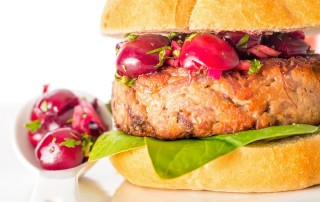 "You all know by now I have favourite ""couples"" when it comes to food, this cherry and duck burger is built on the back of one of may favourite ""couples""."