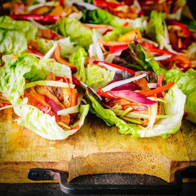 These Stir Fried Stir Fried Spicy Pineapple Pork Lettuce Wraps are super quick to cook and a real crowd pleaser, 20 minutes prep and 10 minutes to cook!