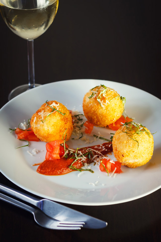 how to make cheese risotto balls