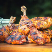 The BBQ is the perfect place to cook a Tandoori Chicken unless you count a Tandoor of course, take your fake away to the next level!