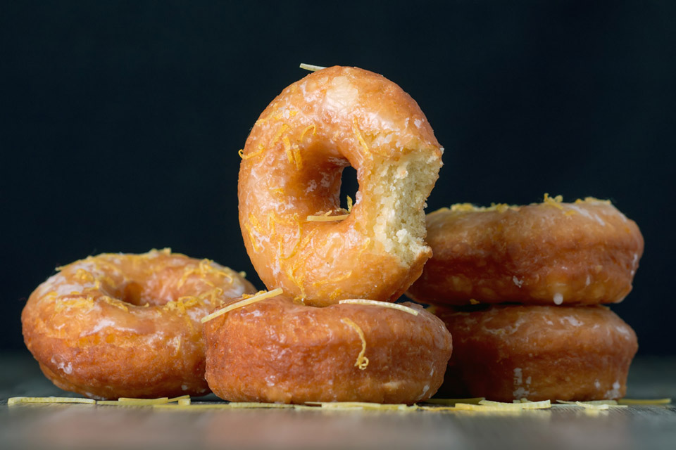 A basic donut recipe unlocks a world of possibilities, glazed, powdered, filled, bright & frivolous or sophisticated and indulgent. What's your favourite?