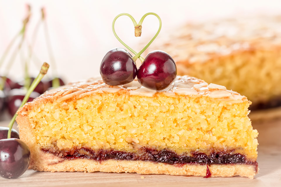 Mr Kiplings Bakewell Tart are a happy memory from childhood, but this grown up version is better, I think Almond and Cherry are made for each other