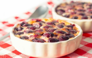 Cherry Clafoutis is a classic French Dessert dating back to the 19th Century loaded with lovely Cherries I flavour mine with a hint of almond liqueur.