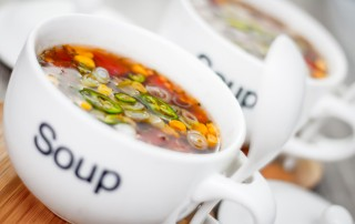 Corn is not just for butter, this 'Mexican' style corn and tomato soup or broth carries a nice kick of chili along with Cumin, Coriander and Oregano
