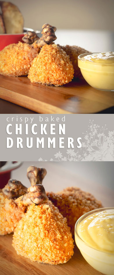 These Golden Baked Chicken Drummers are perfectly cooked and every bit as crispy as their deep fried brethren!