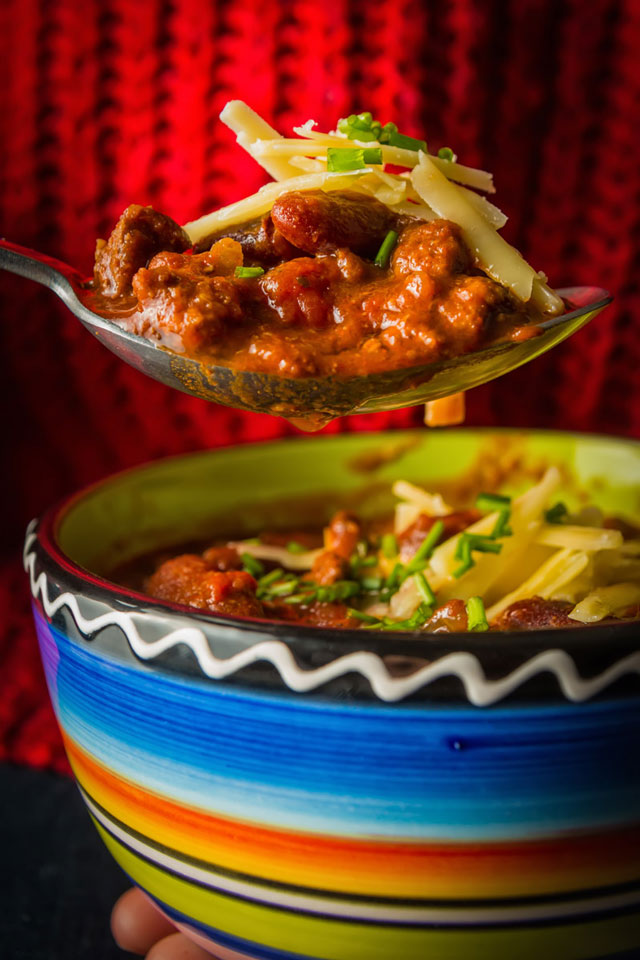 I reckon most cooks have a chili con carne recipe and this is mine given the InstantPot chili treatment, rich unctuous and spicy!