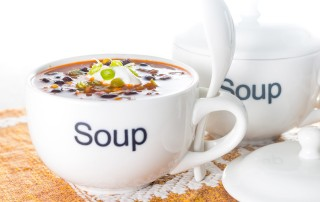 Soup is definitely not just for winter and this Mexican black bean soup provides the sort of refreshment that only a good bit of spice can on both a hot and cold day.