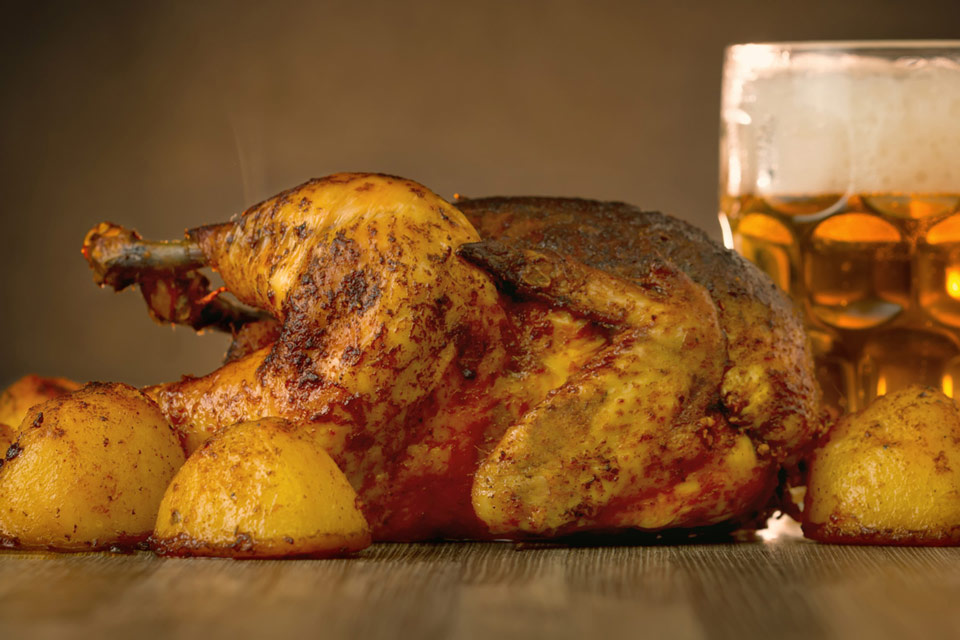 Nuttily perfect Roast Chicken, uses a combination of peanuts, aromatic spices and a touch of paprika elevate this wee chuck to to a whole new level.