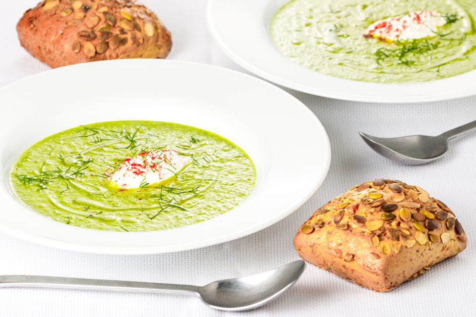 I am not sure why soup has an association with winter but this Sorrel and Fennel soup is light and refreshing and is a perfect light lunch on a summers day!