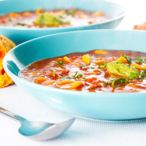 Tomato and Orecchiette Pasta Soup