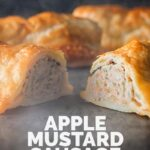 Ain't nothing quite like a good sausage roll and this wee apple and mustard laced sausage roll recipe is wrapped in a simple but great shortcrust pastry. #homemadesausageroll #britishsausagerolls