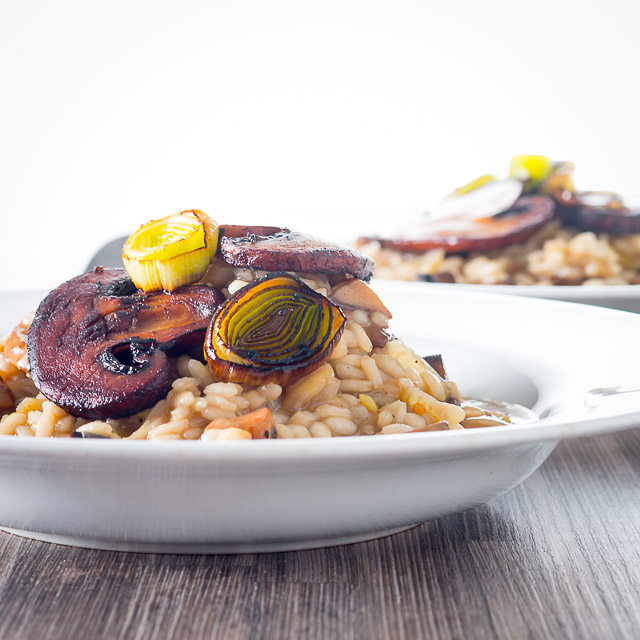 My Balsamic Leek and Mushroom Risotto is a superb comforting meal filled with the flavours of autumn and winter.