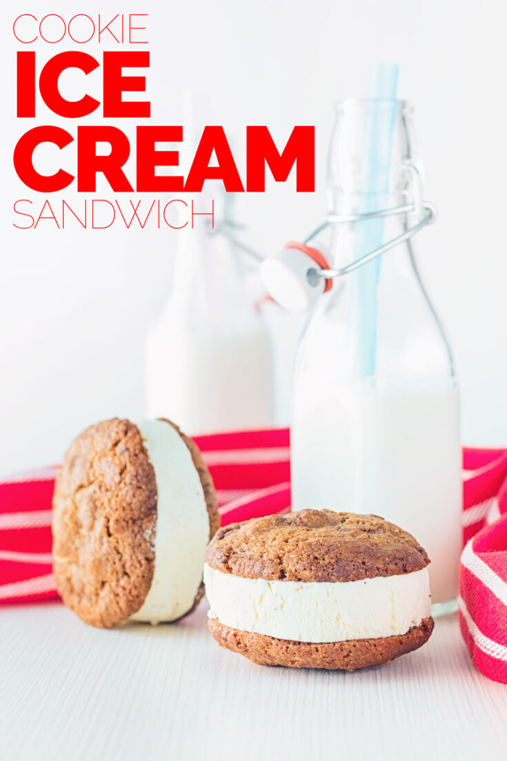 An Ice cream sandwich is all sorts of right and a glorious example of taking two magical things and making them even better! How is that possible? #summerdessert #homemadeicecreamcookies