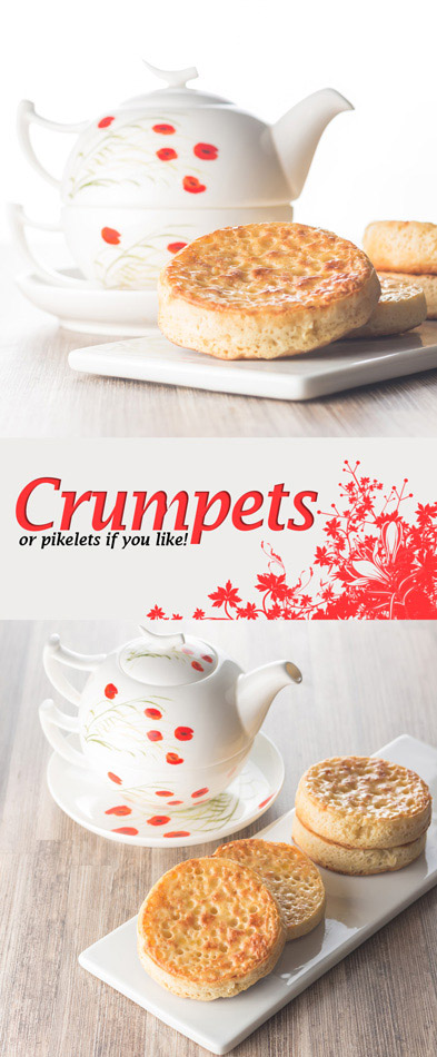 Homemade crumpets are a wonderful breakfast, brunch or supper treat and the finest way to increase your butter intake 😉