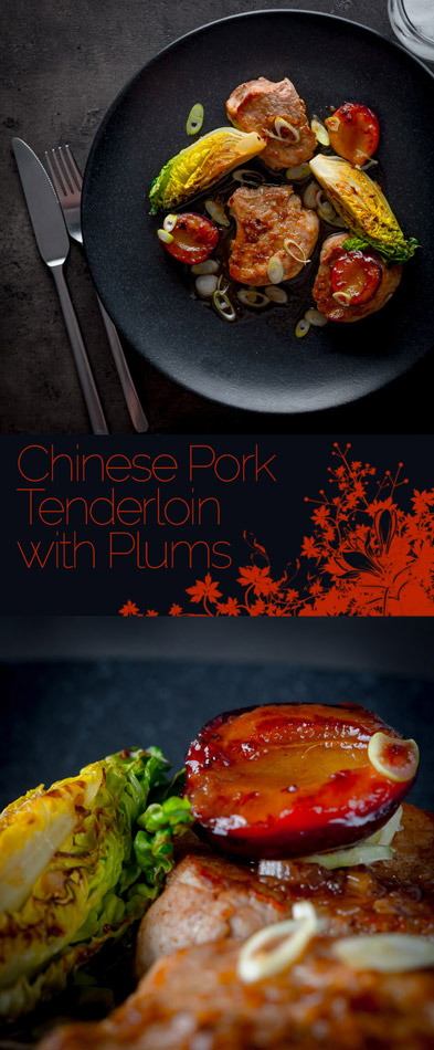 This Chinese pork tenderloin is a sideways glance at the idea of pork and plum sauce but we play with some