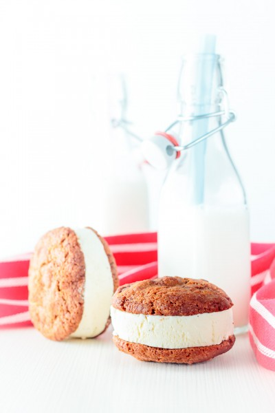 Ice cream cookie sandwich something all sorts of right and a glorious way example of taking two magical things and making them even better, how is that possible?