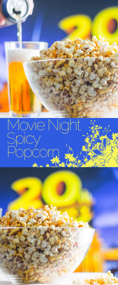 Indian influenced spicy popcorn takes movie nights to a whole new level, sweet, salty and fragrant with cumin and chili!