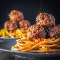 Spaghetti and Meatballs, an all time favourite that I am sure every cook has a version of, this is mine complete with pine nuts!