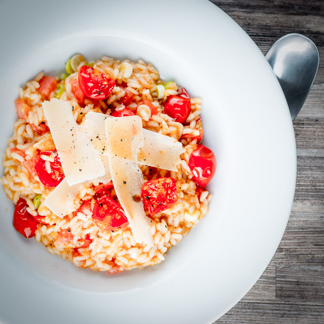 Tomatoes are a main stay of Italian food but a tomato risotto remains something of an unusual dish but a real favourite of mine!