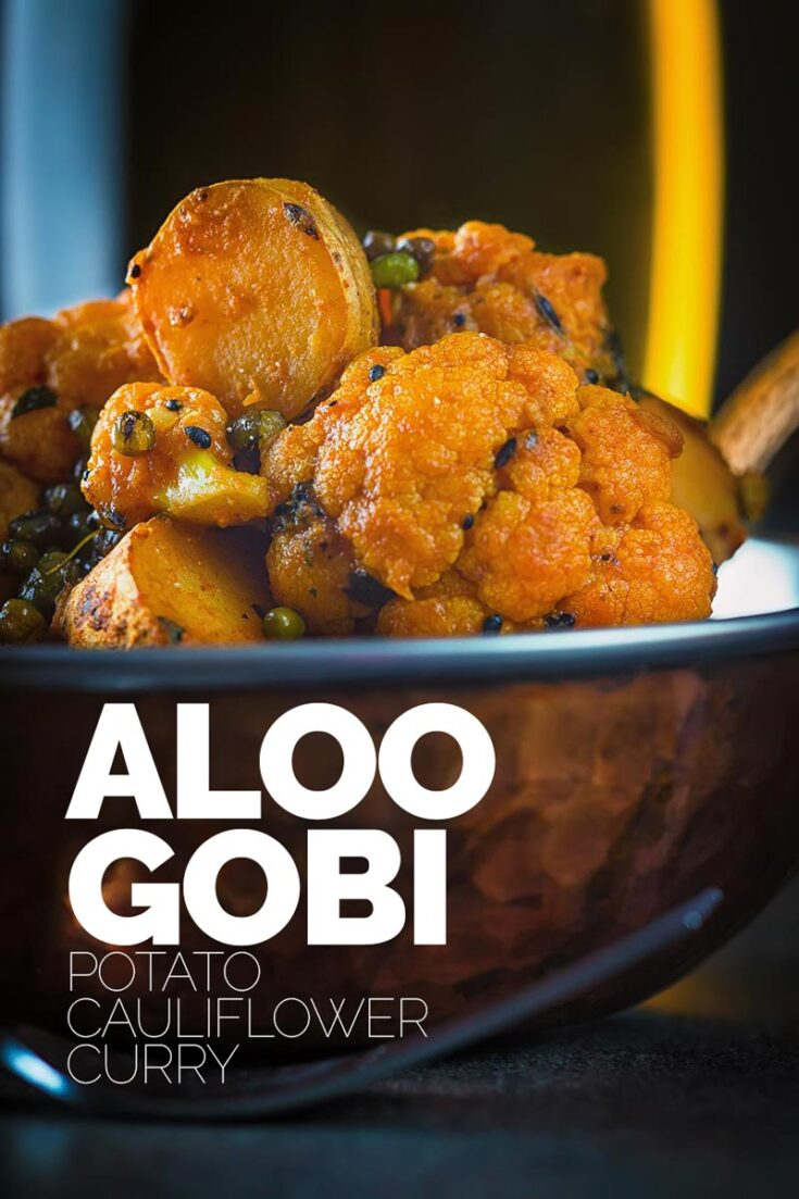 If you want a vegan curry then you must make this aloo gobi recipe a fantastic potato and cauliflower curry, so many wonderful rich flavours and all done in under an hour.  #veganrecipe #restaurantstylealoogobi