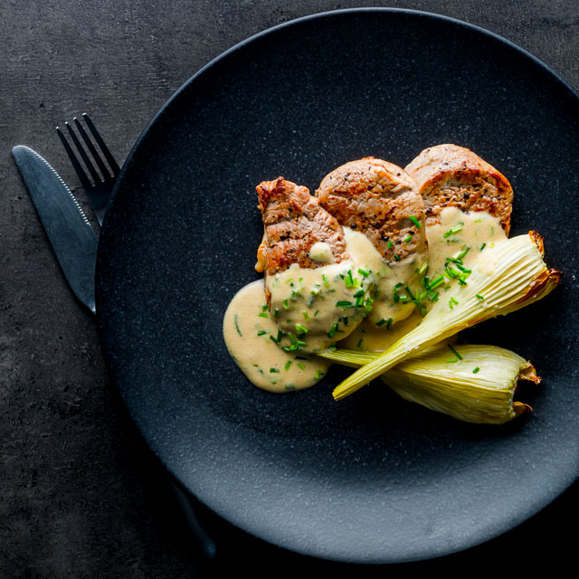 This Camembert Pork Tenderloin with Fennel recipe is a real fab quick recipe that pulls together in 20-25 minutes and pack a boat load of flavour!