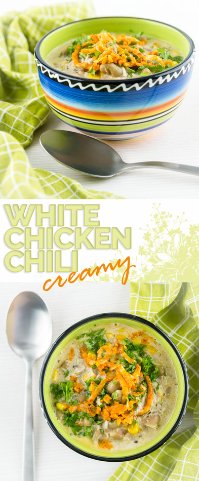 I've long been intrigued by the ideas of a creamy white chicken chili, so I went ahead and worked on my own version of this unusual spicy treat!