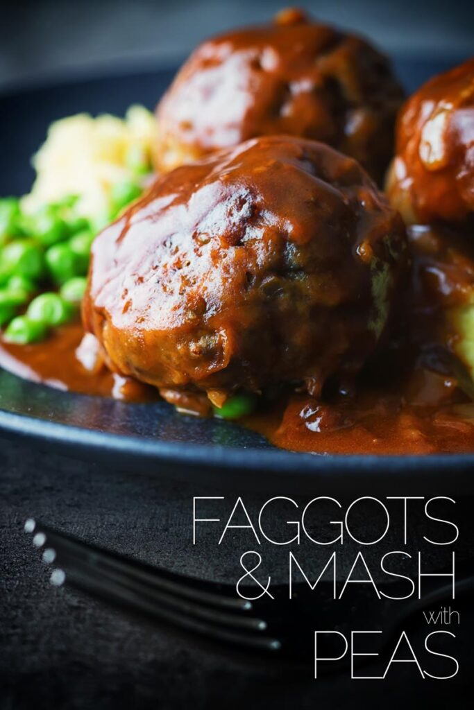 Faggots and Mash were the meatballs I grew up with a staple of the Midlands in the UK have sadly fallen out of favour but these old skool classics are still my favourite! Using cheaper cuts of meat and offal, take your time cooking these and enjoy the fruits of your labour (and the aroma through the house) #britishfood #traditionalbritishfood