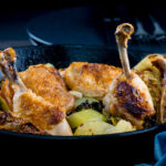 This skillet chicken dinner remind me of my childhood so much, chicken, potatoes and cabbage were always omnipresent whilst I was growing up!