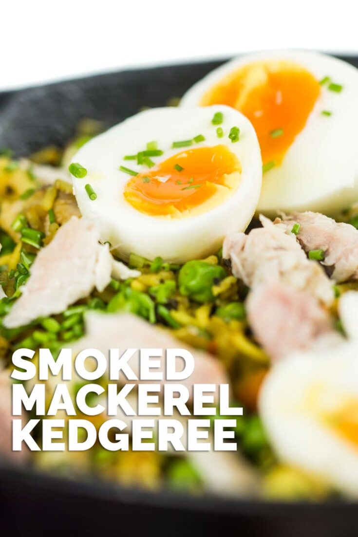 Kedgeree is an Anglo Indian dish traditionally made with smoked haddock my version uses smoked mackerel and is chock full of British Indian flavours! #kedgereerecipebritish #smokedfishkedgereerecipe