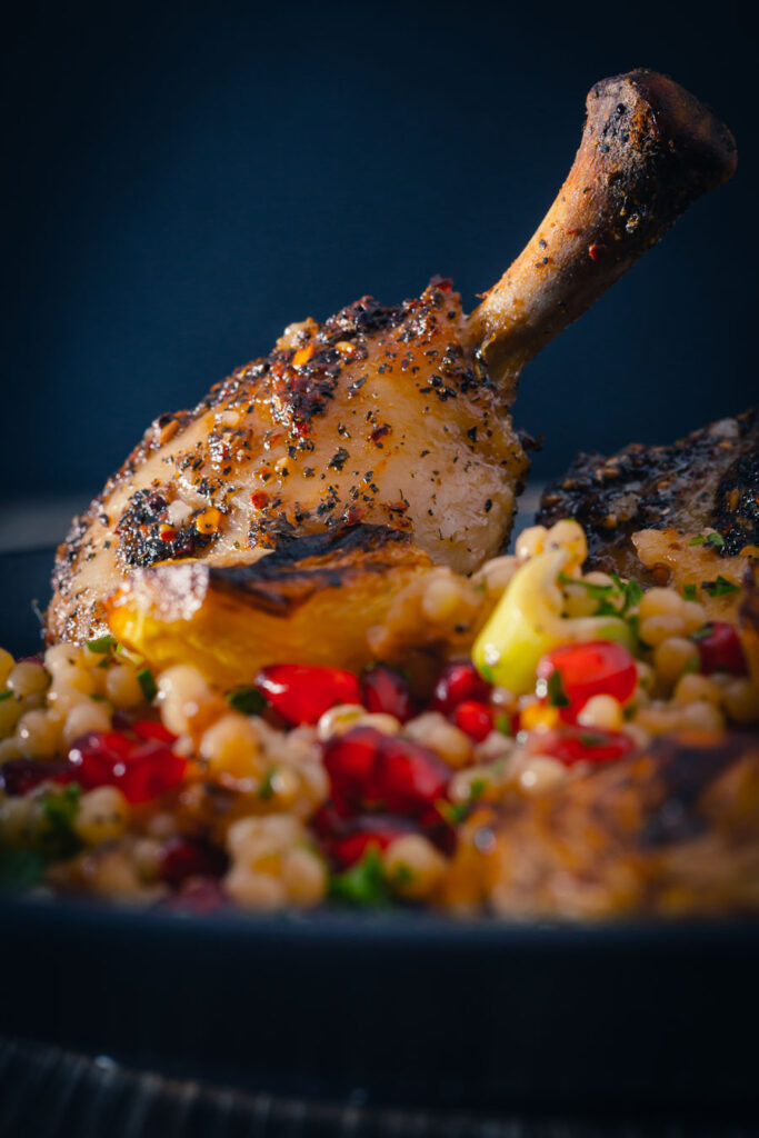 The coating on this Za'atar Chicken dish is the real star of the show the flavours of pomegranate molasses, mint and chili really are sublime!