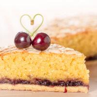 Cherry Bakewell Tart or Frangipane Tart