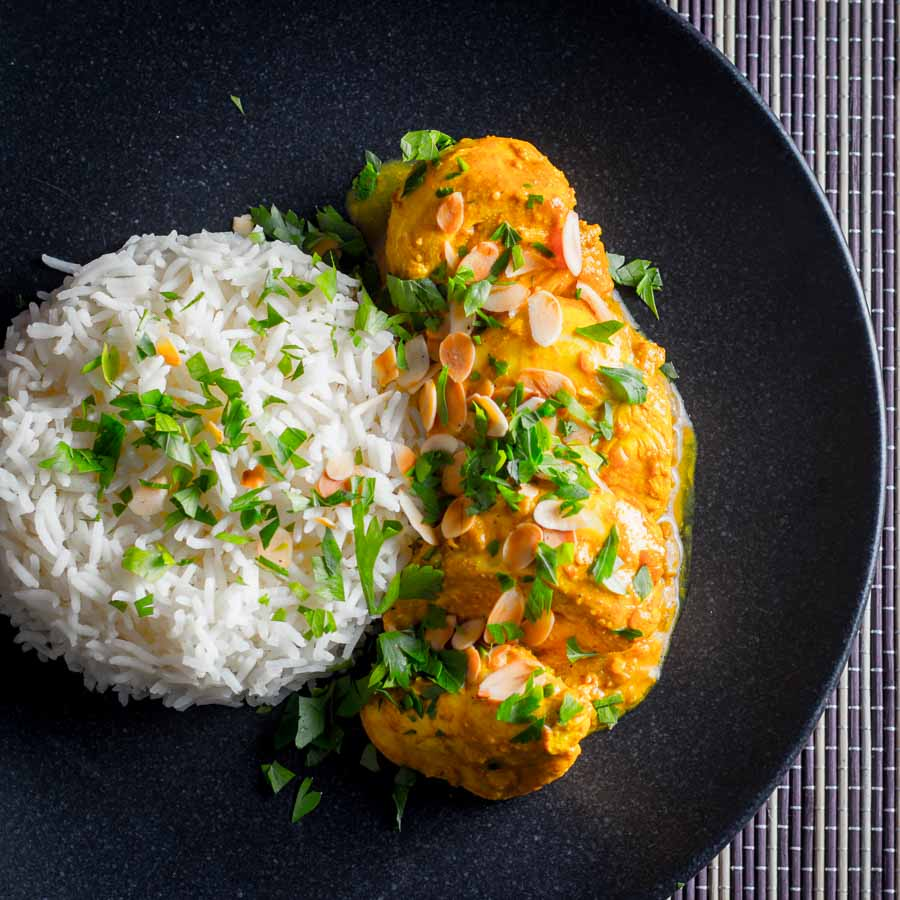 A chicken passanda is a relatively mild 'Mughal' curry loaded with yoghurt and almond and is one of my absolute favourites.