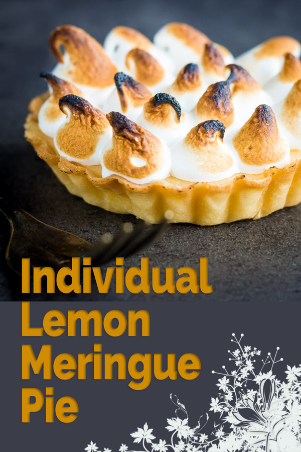Lemon meringue pie was a real treat when I was growing up and still is one of my favourite desserts, these individual pies are designed for the smaller family or greedy couple... My wife and I are the latter!