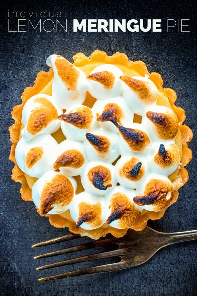 Make this mouth-watering individual lemon meringue pie for dessert tonight, this is a dessert for one so you can indulge your sweet tooth without sharing! I can not even tell you how great this flaky pastry is. #lemondesserts #howtomakeitalianmeringue