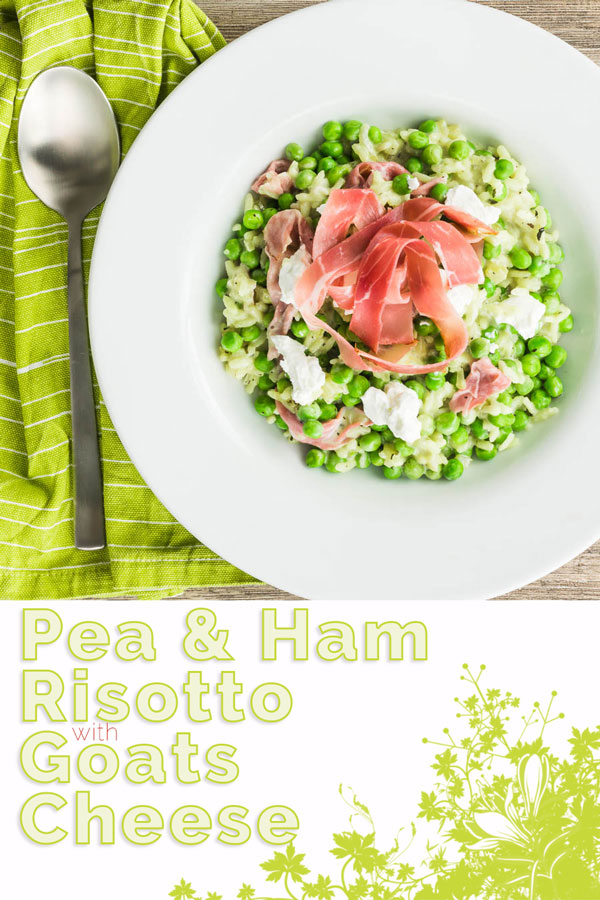 Few flavours work as well together as pea and ham and as a result this pea and ham risotto with goats cheese adds another dimension to that perfect couple!