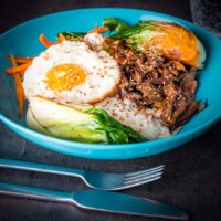 Shredded Teriyaki Duck Donburi