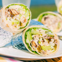 Chicken Waldorf Salad Wrap