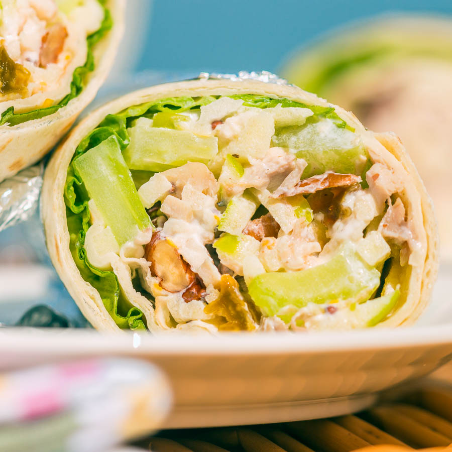 A fairly classic Waldorf salad featuring celery and apple forms the base for these picnic friendly Waldorf Salad Wraps, a fantastic summer treat!