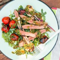 Grilled Rump Steak With Chimichurri Sauce