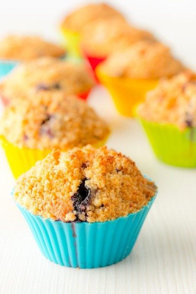 These delicious Lemon and Blueberry muffins are made even more special with the addition of a fantastic streusel crumble topping to give them a unique crunch.