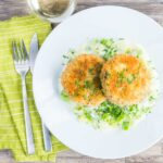 These wonderful sardine and salmon fish cakes are packed full of great spring flavours and come served with fantastic creamed leeks.