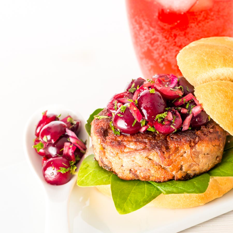 """You all know by now I have favourite """"couples"""" when it comes to food, this cherry and duck burger is built on the back of one of may favourite """"couples""""."""