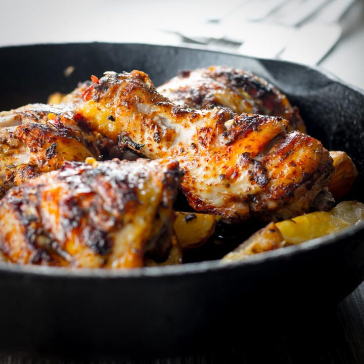 Jerk Chicken is a West Indian classic, this is my humble take on a fiery fragrant dish that is not for the feint hearted when it comes to chili.
