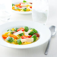 Tomato Consomme with Tortellini