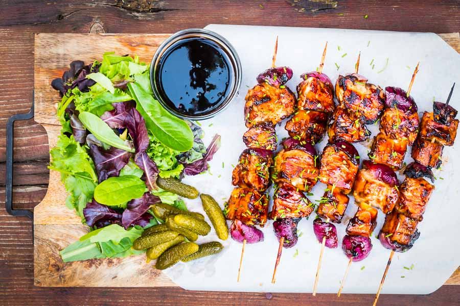 These pineapple chicken kebabs are simple BBQ fodder and are loaded with the sweet and sour flavours more commonly associated with a Chinese Takeaway!