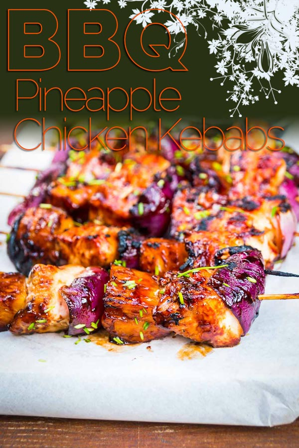These pineapple chicken kebabs are simple BBQ fodder and are loaded with the sweet and sour flavours more commonly associated with a Chinese Takeaway! #bbq #grilled #grilling #bbqparty #grillparty #recipe #recipeoftheday #recipeideas