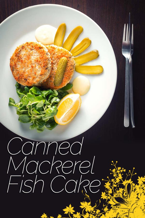 Canned Mackerel Fish Cakes